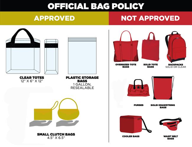 Bags Must Satisfy The Guidelines Below In Order To Be Taken Into Spartanburg Memorial Auditorium